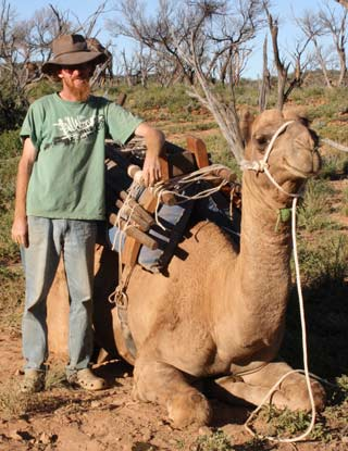 Ryan Mcmillan Camel Trek Guide in Arkaroola
